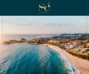 Sweeping views of Terrigal coastline with stunning blue water and pristine sand
