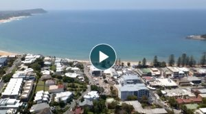 Video showing aerial view of Terrigal